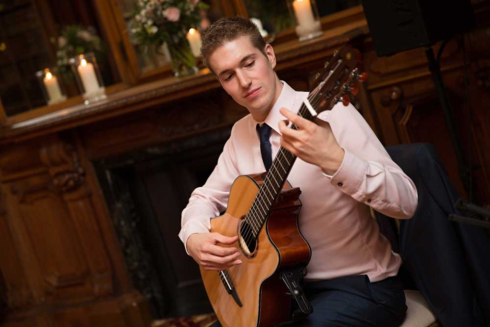 Ed Peczek - Playing classical guitar at Sandon Hall